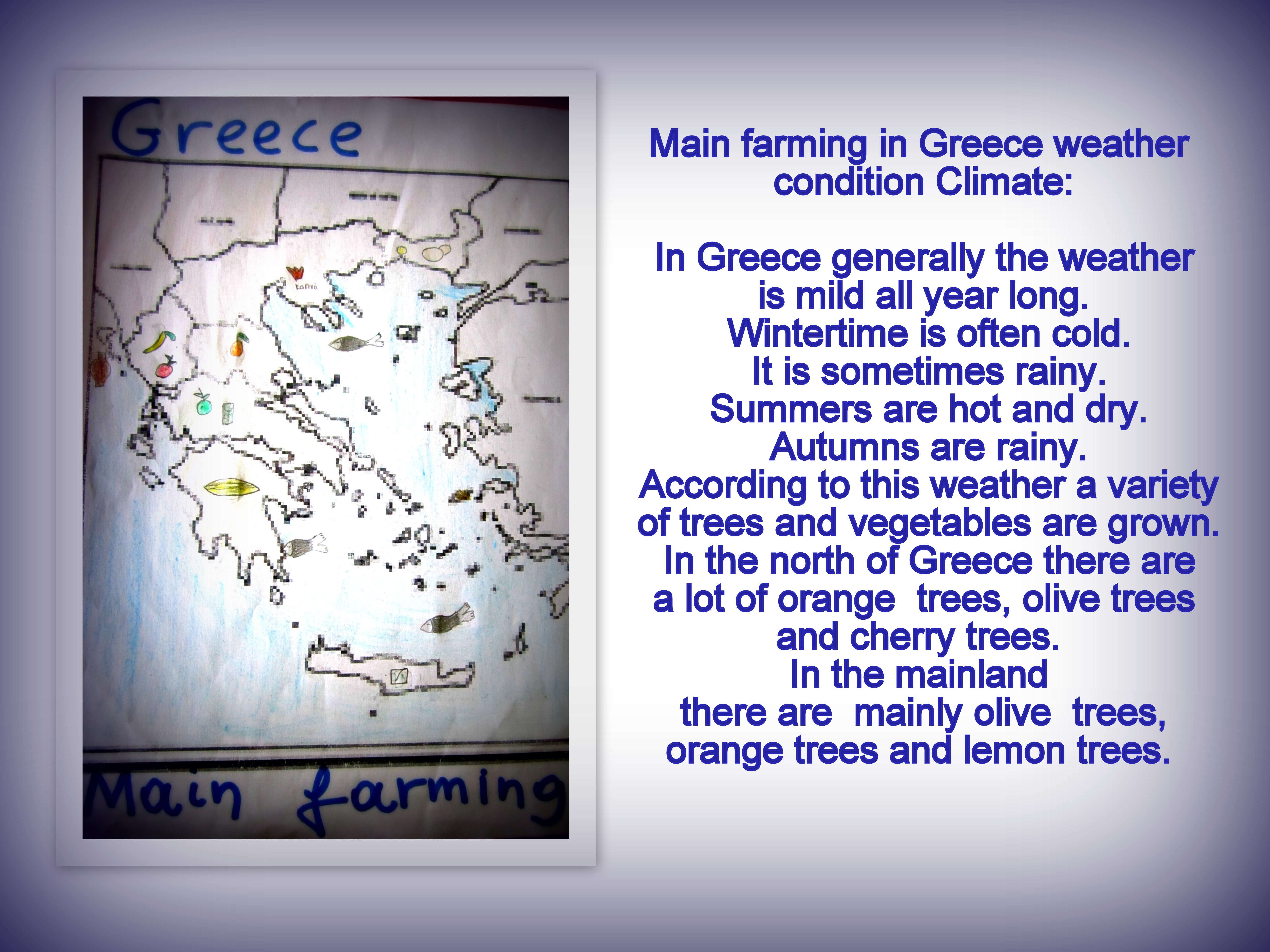 Seasonal temperaturerainfall in GreeceHarvest time