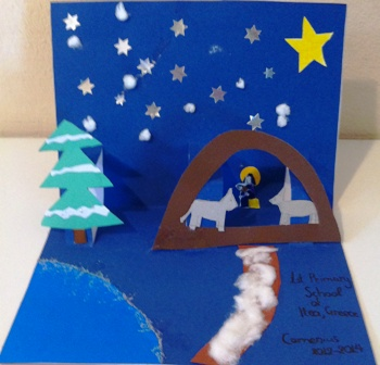 Greek Christmas cards to Comenius Partners
